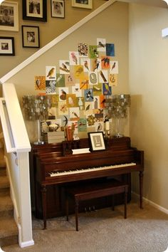 Piano Nook - I love that this piano is in the middle of the house so everyone can enjoy the music!