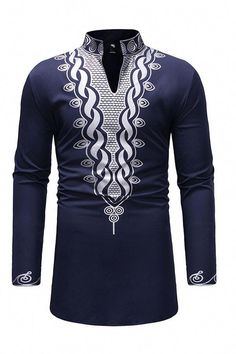 Dashiki Stand Collar Geometric Print Mens Casual T Shirts Shirts - Mens Shirts Casual - Ideas of Mens Shirts Casual - Dashiki Stand Collar Geometric Print Mens Casual T Shirts Shirts fashion African Shirts Designs, African Wear Styles For Men, African Shirts For Men, African Dresses Men, African Attire For Men, African Clothing For Men, Latest African Fashion Dresses, African Print Fashion, African Style