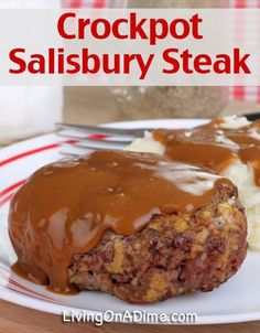 Easy Crockpot Salisbury Steak Recipe