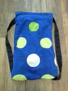 Polka Dot Beach Towel Back Pack by TreasuresbyKatieH on Etsy, $20.00