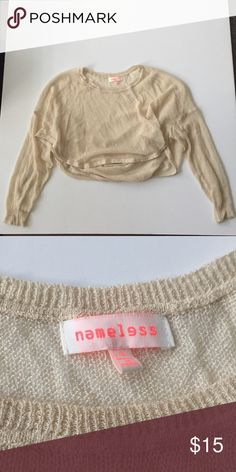 Like new namelesss crop sweater-S Tags: mura, tiger mist, showpo, sabo skirt, white fox, missguided, h and m, hello Molly, Stelly, hot Miami styles, fashion nova, princess Polly, verge girl, pop cherry nameless Sweaters