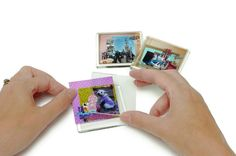 Mini scrapbook magnets