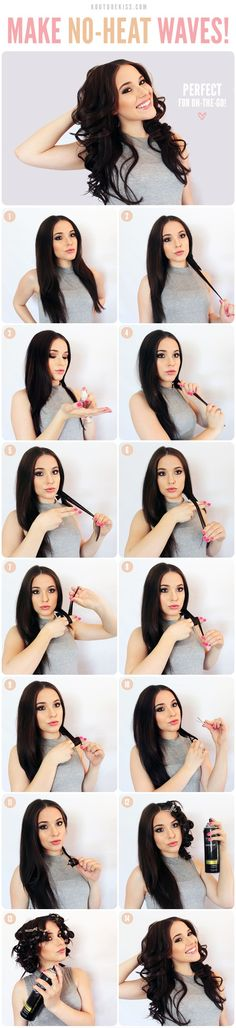 How To Do No-Heat Curls And Waves