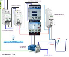 Esquemas eléctricos: Motor bomba 230V Electrical Wiring, Control System, Architecture, Power Strip, Locker Storage, Engineering, Floor Plans, Diy, Design