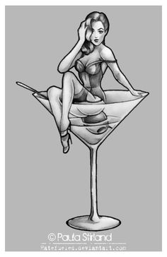 Pin Up Martini by *hatefueled on deviantART
