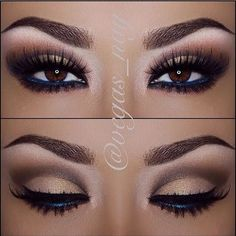 Eye Makeup | Eyeshadow | Eyebrow - i love the navy in the waterline! F4F