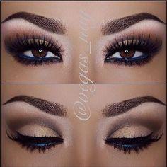 Eye Makeup | Eyeshadow | Eyebrow - i love the navy in the waterline!