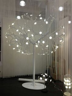 Blackbody showcased an all-white, life-size tree light that featured OLED (organic light-emitting diode) energy saving lights.