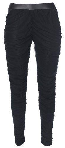 Stylish Chiffon & PVC Contrast Leggings, Ladies Leggings Fashion Victim. $29.99