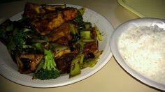 Healthy Recipe -Herb Tofu Bean and  Broccoli Stir-Fry