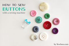 How To Sew Buttons With a Sewing Machine at Sewbon.com