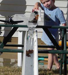 Rain gutter course- Rain, Rain, Come and Play: Backyard Adventures for the Wet Season - ParentMap