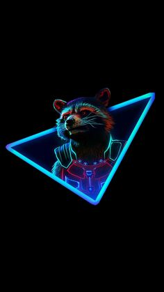 New wallpaper marvel comics wallpapers 69 Ideas Marvel Fan, Marvel Dc Comics, Marvel Avengers, Rocket Raccoon, Raccoon Animal, Guardians Of The Galaxy, Logo Super Heros, Neon Wallpaper, Wallpaper Keren