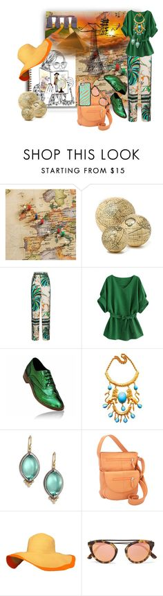 """The Well Traveled Dream"" by rainheartcreations ❤ liked on Polyvore featuring Frontgate, Valfré, Anthropologie, Emilio Pucci, Rene Escobar, J. P. Ourse & Cie. and Casetify"