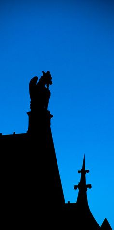 Gargoyle on Blue