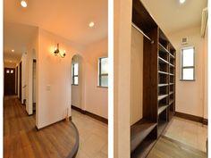 1F:玄関<br /> 玄関奥には靴と外着が仕舞えるシューズクローク。