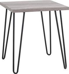 altra furniture owen retro end table with sonoma oak finish and gunmetal gray metal legs altra amazoncom altra furniture ryder apothecary tv