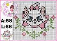 Risultati immagini per graficos ponto cruz gatinha marie