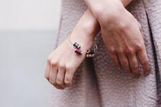 ONDÉE // bracelet jonc en résine, cuivre et argent