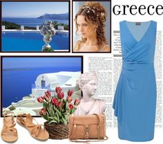 """Greece"" by daisy1980 ❤ liked on Polyvore"