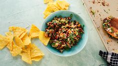 The best excuse to break out the tortilla chips. Save the recipe for Sheet Pan Spicy Corn Salsa! Recipe Mix, Salsa Recipe, Muffins, Corn Salsa, Salsa Food, Cheese Stuffed Peppers, Recipe Sheets, Mexican Food Recipes, Sauces