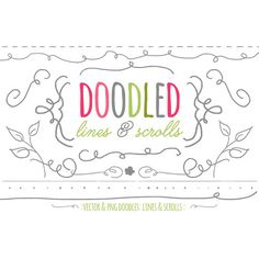 Vector Doodles Lines and Scrolls Graphics for Commercial Use