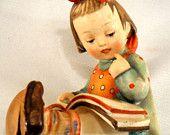 """Antique M.I. Hummel """"Bookworm"""" Girl 1946 SOLD"""