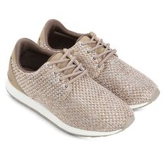 Keep stylish and comfortable by slip this shoes on. Sport Fashion by Bellagio, sneaker with woven design, made from good material, with beige color, round toe, laces up, insole synthetic, rubber sole, pair it with boyfriend jeans and sleeveless for a sporty look. http://www.zocko.com/z/JJ7Gv