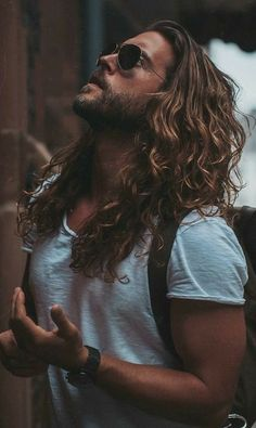 Some Sexy Looks For Men – Long Hairstyles Ponytail Hairstyles for Men Long Curly Hair Men Long Straight Hair with Beard, Long Hairstyles for Men, Long Hair Beard, Long Hair Cuts, Long Curly Hair Men, Cool Hairstyles For Men, Haircuts For Men, Male Long Hairstyles, Haircut Men, Hipster Hairstyles, Celebrity Hairstyles