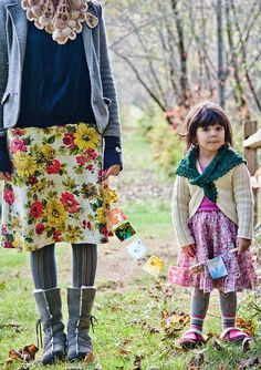 I would dress in a floral skirt and cardigan everyday if I could...with my grandbaby by my side...