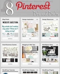 WordPress Website Designer, Coach, Trainer, and Consultant  in Orange County: 8 Pinterest Do's and Don'ts