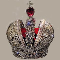 Great Imperial Crown This crown weighed nine pounds and was said to have given Nicholas II a headache since it pressed against a scar on his forehead. The last occasion on which the Great Imperial Crown was officially used was the State Opening of the Duma in 1906.