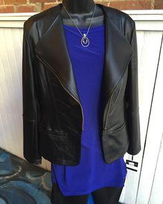 Sophisticated look!  Clara Sun Woo black jacket- $69.95 Clara Sun Woo tunic- $49.95 Articles of Society jeans- $54 Brighton necklace- $49.95  #madisonsbluebrick #downtownhotsprings #clarasunwoo #brighton #articlesofsociety
