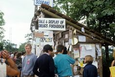 Glastonbury 1984 Sale and Display of Drugs Forbidden sign