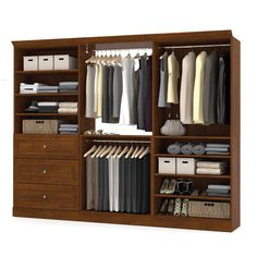 Shop Bestar Versatile by Classic Kit at Lowe's Canada. Find our selection of wood closet organizers at the lowest price guaranteed with price match. Wall Storage, Closet Storage, Closet Organization, Drawer Storage, Storage Units, Diy Wardrobe, Wardrobe Design, Open Wardrobe, Wardrobe Ideas