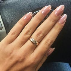 Form und Farbe – Nagellack, You can collect images you discovered organize them, add your own ideas to your collections and share with other people. Mauve Nails, Shellac Nails, My Nails, Manicures, Acrylic Nail Shapes, Oval Acrylic Nails, Nail Ring, Short Nail Designs, Nagel Gel