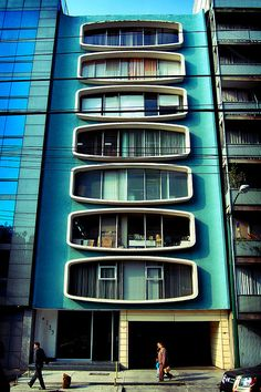 What apartment buildings were going to look like in the future. Condessa, Mexico City