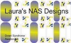 Down Syndrome Awareness  #Jamberry #NailArtStudio #NailArt #DIY