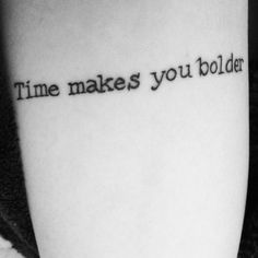 """Time makes you bolder"" (Fleetwood Mac - Landslide)"