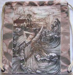 Arthur Rackham Undine Mermaid Backpack/tote by Craftyscientists