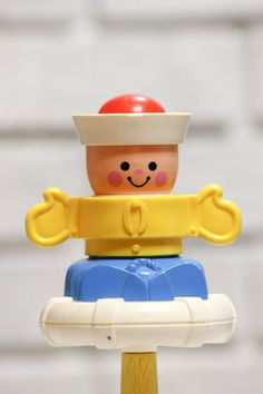 Vintage Fisher Price Sailor Baby Toy Peek and Squeak by CabinOn6th, $6.00