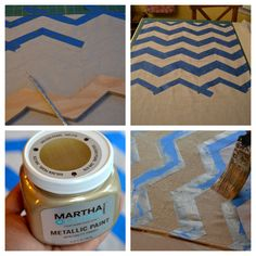 DIY Painted Chevron Table Runners
