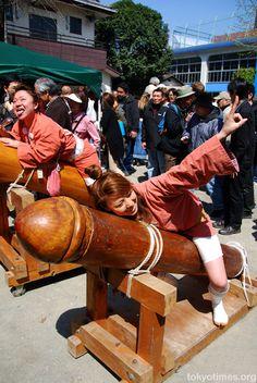 Kawasaki's annual fertility festival (the Kanamara Matsuri)- cuz its hilarious