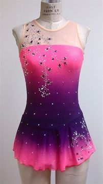 pink and black figure skating dress - Google Search