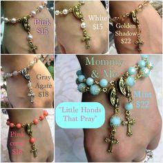 Handmade Swarovski crystal or gemstone rosary bracelet