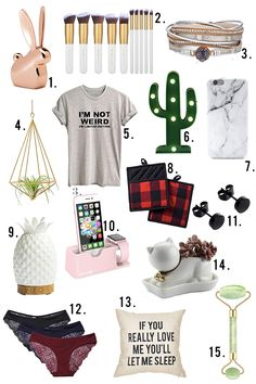 small gifts and stocking stuffer ideas for women and girls all under $10 dollars.
