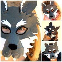 Felt Wolf Mask PATTERN. Instant Download sewing by EbonyShae