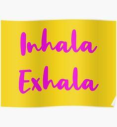 Inhala, Exhala - Lavender & Light Orange Poster Home Art, Original Paintings, Geek Stuff, Posters, Messages, Wall Art, Tv, Illustration, Artist