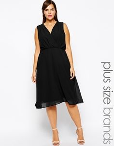 Image 1 ofTruly You Wrap Front Midi Dress