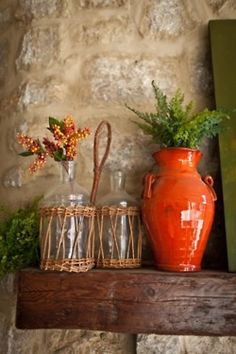 tuscan pottery in red